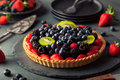 Homemade Key Lime Fruit Tart