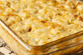 Homemade macaroni and cheese dinner with noodles Royalty Free Stock Photo