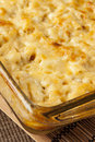 Homemade macaroni and cheese dinner with noodles Royalty Free Stock Photography