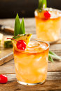 Homemade Mai Tai Cocktail Royalty Free Stock Photo