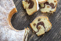 Homemade marble cake Royalty Free Stock Photo
