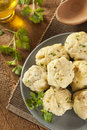 Homemade matzo balls with parsley ball dumplings for passover Royalty Free Stock Photography