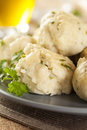 Homemade matzo balls with parsley ball dumplings for passover Stock Image