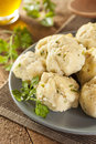 Homemade matzo balls with parsley ball dumplings for passover Stock Photo