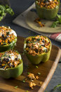 Homemade Meat and Rice Stuffed Bell Peppers Royalty Free Stock Photo