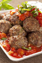 Homemade Meatballs in Red Tomato Sauce Royalty Free Stock Photography