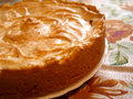 Homemade meringue pie on white plate Stock Photos