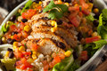 Homemade Mexican Chicken Burrito Bowl Royalty Free Stock Photo