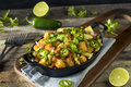Homemade Mexican Tater Tot Nachos Tachos Royalty Free Stock Photo