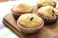 Homemade muffins with blueberries