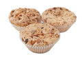 Homemade muffins with nuts Royalty Free Stock Images