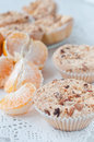 Homemade muffins with nuts Royalty Free Stock Photography