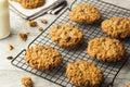 Homemade Oatmeal Raisin Cookies Royalty Free Stock Photo