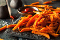Homemade Orange Sweet Potato Fries Royalty Free Stock Photo
