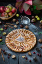 Homemade Organic Apple Pie Dessert Ready to Eat Royalty Free Stock Photo