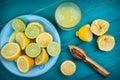 Homemade organic fresh lemon squeezed juice Royalty Free Stock Photo
