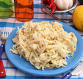 Homemade pasta with cheese some fresh Royalty Free Stock Image