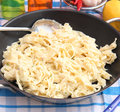Homemade pasta with cheese some fresh Royalty Free Stock Images
