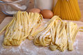 Homemade pasta pappardelle typical italian Stock Images