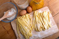 Homemade pasta pappardelle typical italian Stock Photography