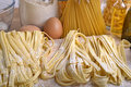 Homemade pasta pappardelle typical italian close up Stock Images