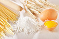 Homemade pasta scene Royalty Free Stock Photo