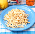 Homemade pasta some fresh on a plate Stock Photos