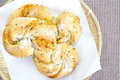 Homemade pastry filled with cheese and sesame photo of Stock Images