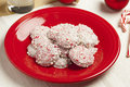 Homemade Peppermint Christmas Cookie Royalty Free Stock Photography