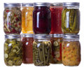 Homemade preserves and pickles Royalty Free Stock Photo