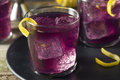 Homemade Purple Haze Cocktail Royalty Free Stock Photo