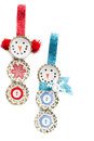 Homemade recycled ornaments Royalty Free Stock Photo