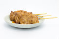 Homemade roast bbq grill pork sticks Royalty Free Stock Photo
