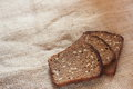Homemade rye bread with bran and seeds soft focus Royalty Free Stock Photos