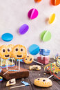 Homemade shortbread cookies on stick called pie pops Royalty Free Stock Photo