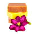 Homemade soap bars Stock Images