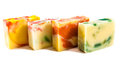 Homemade soap bars group of natural products in various colors Stock Photo