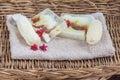 Homemade soap and luffa Royalty Free Stock Photo