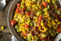 Homemade Succotash with Lima Beans Royalty Free Stock Photo