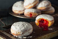 Homemade Sugary Paczki Donut Royalty Free Stock Photo