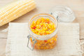 Homemade sweet corn and peppers Royalty Free Stock Photo
