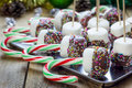 Homemade sweetness with candy cane marshmallow chocolate and sprinkles christmas holiday celebration Royalty Free Stock Image