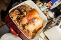 Homemade Turkey on the counter Royalty Free Stock Photo