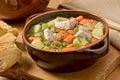 Homemade Turkey Soup Royalty Free Stock Photo