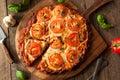Homemade Vegan Cauliflower Crust Pizza Royalty Free Stock Photo