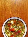 Homemade vegetable soup healthy home made Stock Photo