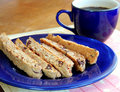 Homemade whole wheat biscotti Royalty Free Stock Photos