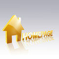 Homepage d letters with icon on bright surface Royalty Free Stock Photo