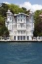 Homes along the Bosporus Turkey Royalty Free Stock Photography