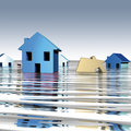 Homes water Stock Images